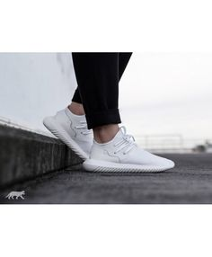 Adidas Men's Tubular Radial Lace Up Sneakers ($110) ❤ liked