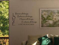 """""""LOVE"""" wall quote"""