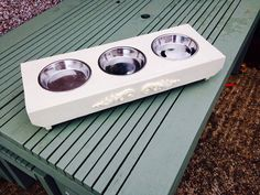Gorgeous cat feeder made by Benfleet Garden Planters, England Cat Feeder, Garden Planters, Dog Bowls, Shabby Chic, Pets, England, Flower Planters, Garden Container, English