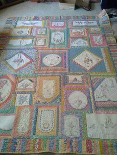 Vintage Linen Quilt made by Belinda Miller