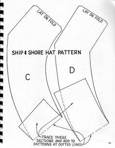 Ship & Shore Hat pattern pc 3