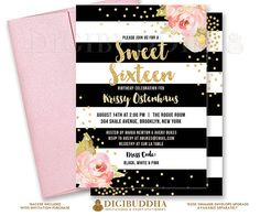 36 best gold pink baptism invitation images on pinterest