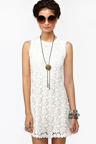 white lace dress at Nasty Gal, lovely!