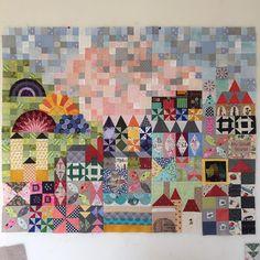 Progress on my small world quilt, only 1 part left #mysmallworldqal #mysmallworld