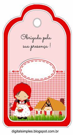 Como algumas meninas pediram por email que eu fizesse um Kit de personalizados da Chapeuzinho Vermelho, então aqui está o Kit.... Foam Crafts, Diy And Crafts, Red Riding Hood Party, Little Red Ridding Hood, Magic Party, Planners, Childrens Party, Baby Prints, Alice