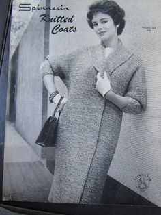 Knitted Coat Pattern Vintage PDF by vintageknitcrochet eed06fbc3