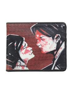 Bi-fold wallet with a billfold, card slots and a clear ID display.