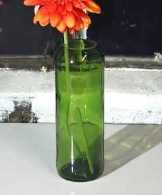 Look at this Green Recycled Wine Bottle Vase on #zulily today!