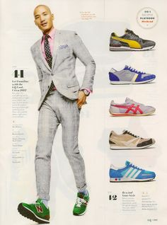 Ties and sneakers: Yessss!!! #fashion #menswear Paolo Roldan Has a Sneaker Obsession for GQ US