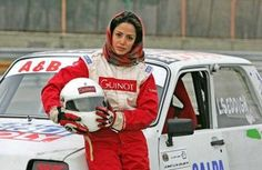 Laleh Seddigh is a race car driver in Iran fighting for women's rights.  FYI, Iran bans women from competing in sports.  via bleacherreport.com