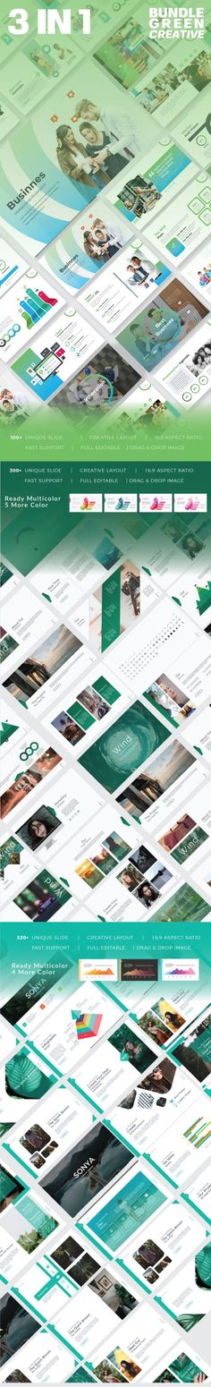 Buy 3 in 1 Green Keynote Template Bundle by RitsBoys on GraphicRiver. Overview 3 in 1 Green Keynote Template has a professional, ultra-modern and unique design, where each slide is create. Marketing Presentation, Corporate Presentation, Presentation Slides, Presentation Templates, Slide Images, Creative Powerpoint Templates, Keynote Template, Dark Colors