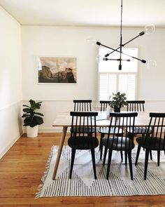 - Chairs For Living Room Videos Cheap - Farmhouse Dining Chairs Cushions - Dining Room Table Decor, Walnut Dining Table, Modern Dining Table, Dining Room Design, Black Dining Chairs, Light Wood Dining Table, Black And White Dining Room, Ikea Dining Room, Small Dining Rooms