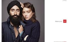 """""""Because, as the year 2014 inches closer to us, I want to live in an America where a fashion model can be a handsome, bearded brown dude in a turban who is considered as beautiful as a busty blonde-haired white girl in see-through lingerie."""" Gap Ad Featuring an Indian Model Goes Viral After Racist Vandalism -- http://www.thedailybeast.com/articles/2013/11/26/gap-ad-featuring-an-indian-model-goes-viral-after-racist-vandalism.html"""