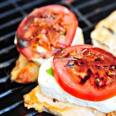 Caprese Grilled Chicken with Balsamic Sauce