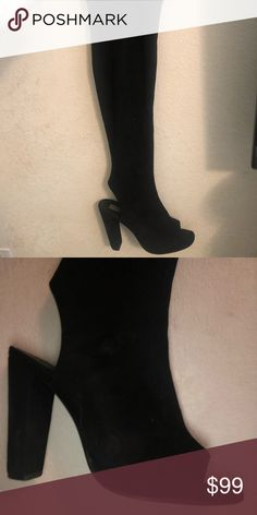 a0524d7ac05b STEVE MADDEN thigh highs (AUTHENTIC) Suede very good condition Steve Madden  Shoes Over the Knee Boots. Find ...