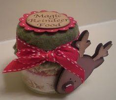 Kids Christmas craft....reindeer food to sprinkle on Christmas eve....