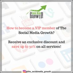 """Join our VIP program and take advantage of lower fees, 24/7 support, special promotions, and extra security! 🔐 The entry rules are simple: the more you spend using your The Social Media Growth balance, the more benefits, and rewards you earn through membership of our exclusive VIP program. 💸🏆Use this coupon code """"PINFREE$1"""" at checkout to receive a Free Trial! Coupon can be applied only once. Great Photos, Cool Pictures, Special Promotion, Perfect Photo, Social Media Marketing, Vip, Thats Not My, How To Become, Coupon"""