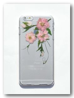 Handmade iphone 6 plus case, Resin with Real Flower,Pressed flower(42)