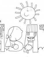 Giulio coniglio colorare disegnidacolorare disegnare for Disegni nicoletta costa da colorare