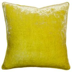 """The Velvet throw pillow combines lush texture with understated elegance to create a must-have interior accent. This opulent cushion offers a bold pop of color in a choice of 20 solid hues, perfect for mixing and matching atop stylish beds and sofas. A plush feather fill completes the luxe design. 12""""W x 24""""H. 20""""W x 20""""H. 22""""W x 22""""H. 24""""W x 24""""H. 26""""W x 26""""H. Shown in: Orange. 100% cotton velvet. 95% feather/5% down insert included. Invi..."""