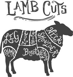 Image result for vintage cuts of meat lamb