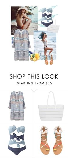 """Blue summer again"" by fivana ❤ liked on Polyvore featuring Violeta by Mango, BUCO and Lisa Marie Fernandez"