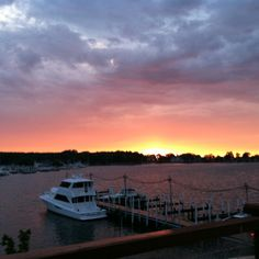 Put-in-Bay harbor at sunset