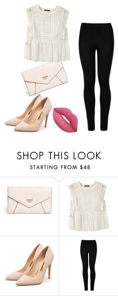 """""""Untitled #79"""" by sanduema on Polyvore featuring GUESS, Violeta by Mango, Rupert Sanderson, Wolford and Lime Crime"""
