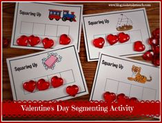 Add a little holiday fun into your small group intervention.  These cute little heart gems can be found at the Dollar Tree and make for an awesome phoneme segmentation activity.