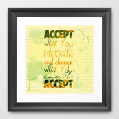 Accept Framed Art Print by Art Works by BooSilva - $30.00