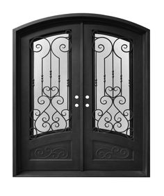 Order Donatello Doors Genova Polar Sheild/Aged Pewter / / Eyebrow Top/ Wrought Iron/Thermally Insulated, delivered right to your door. Wooden Doors, Metal Doors, Brown Front Doors, Wrought Iron Doors, Front Entrances, Entrance Doors, Exterior Doors, Door Design, Eyebrow