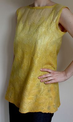 Amarelo, nunofelted tunic top