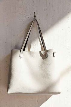 00cf028a6f20 Reversible Vegan Leather Tote Bag - Urban Outfitters