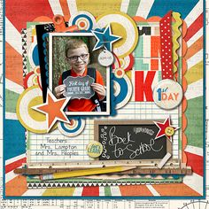 Learning Curve Value Bundle by Studio Basic and Penny Springmann Cindy's Templates Set 52 (retired) by Cindy Schneider Stars from A Happy Family: Catching the Bus by Traci Reed and Shawna Clingerman