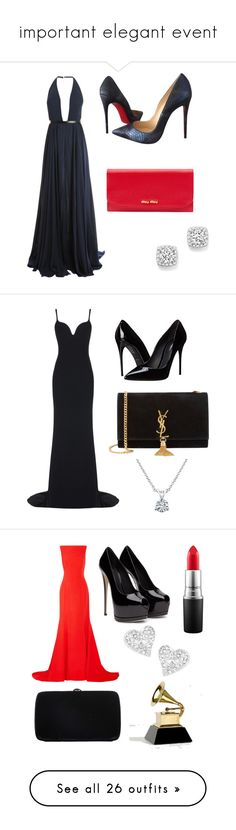 """important elegant event"" by amandaalvino ❤ liked on Polyvore featuring Jason Wu, Christian Louboutin, Miu Miu, Bloomingdale's, beauty, STELLA McCARTNEY, Dolce&Gabbana, Yves Saint Laurent, Bony Levy and Oscar de la Renta"