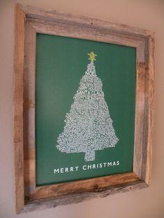 Christmas Tree Word Art.