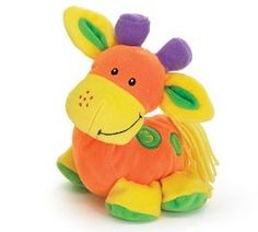 "6 1/2"" Brightly colored Giraffe. Trixie has numbers embroidered on back. Brand new and very cute!"