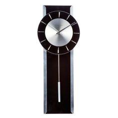 Debenhams Black glass 'Pendulum' wall clock- at Debenhams.com