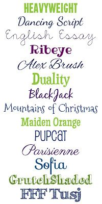 WhimsiKel: Fun with Fonts 1 ~~ {14 FREE fonts with links}