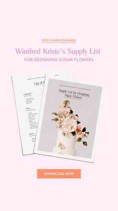 Edible Flowers, Sugar Flowers, List Of Flowers, Diy Crafts Hacks, Kohls Dresses, Stationeries, Supply List, Relief Society, Flower Designs