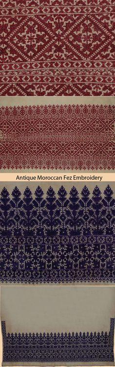 Antique Moroccan Fez Embroidery - Maroc Désert Expérience tours http://www.marocdesertexperience.com