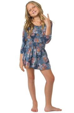 O'Neill 'Lydia' Floral Print Dress (Big Girls) available at #Nordstrom