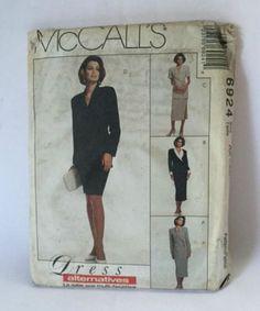 McCalls 6924 Sewing Pattern Dress Jacket Skirt Womens 4 6 8 New Uncut Vintage