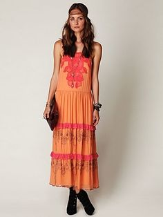 Free People Dancing in India Dress at Free People Clothing Boutique - StyleSays