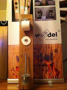 Klopapierhalter - woodel system (Modell Einloch, Variante B) - ein Designerstück…