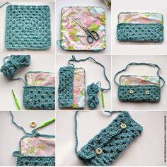 Bolso de Fiesta Bandolera Crochet - Patrones Crochet