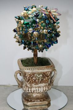 Hey, I found this really awesome Etsy listing at https://www.etsy.com/listing/173232538/medium-topiary-teal-green-art-custom
