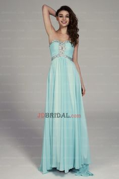 2015 Ravishing A Line Beading-crystal Sweetheart Pleated Chiffon Prom Gown