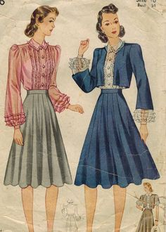 1940s Simplicity 3406 Vintage Sewing Pattern door midvalecottage, $20.00