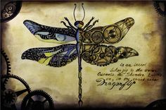art, dragonfly, watercolor, drawing By ukrainofeel.